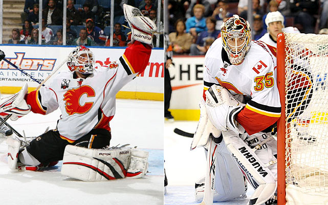 Kiprusoff was great last season, as he often has been, and he played a lot of games as he always does. That formula -- with no proven backup yet again -- is getting old in Calgary and, at 34, Kipper isn't getting younger. Looking at the unimpressive roster that surrounds him, the chance of another campaign of Kiprusoff's 2009-10 caliber (35-28-10, 2.31 GAA, .920 save pct.) seems slim under the circumstances.    Click HERE  for Darren's take on the goaltending trend in the NHL.