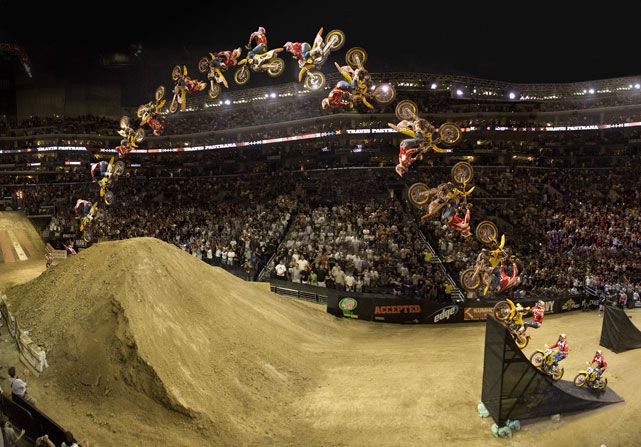 A step-by-step guide to double-backflipping, courtesy of Travis Pastrana.