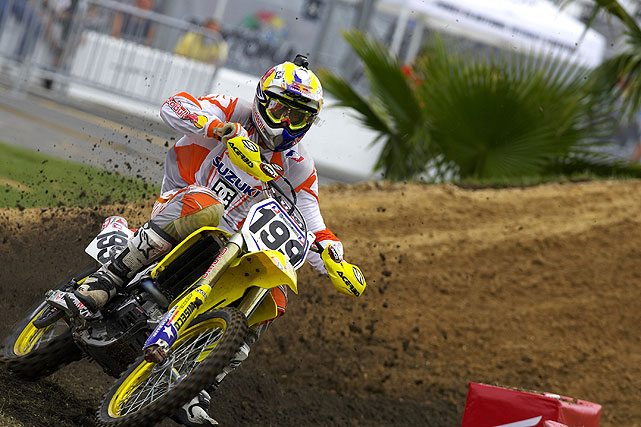 Pastrana has balanced careers in both FMX and supercross. Here he is racing in the 2006 Amp'd Mobile/AMA Supercross Series.