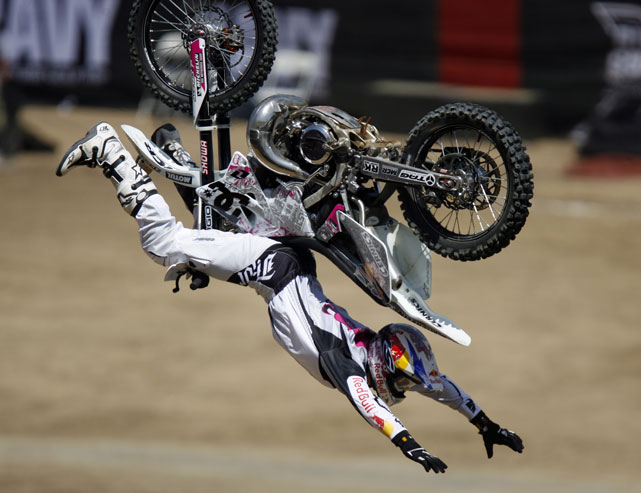 During those same X Games, Pastrana became the first person to ever land a double-backflip in competition.
