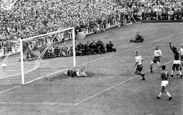 Now the most decorated soccer country in the world, Brazil hadn't won a World Cup heading into the 1958 tournament.  That all changed when Pele spearheaded the team to a 5-2 triumph over Sweden in the finals, with Pele knocking in two goals.