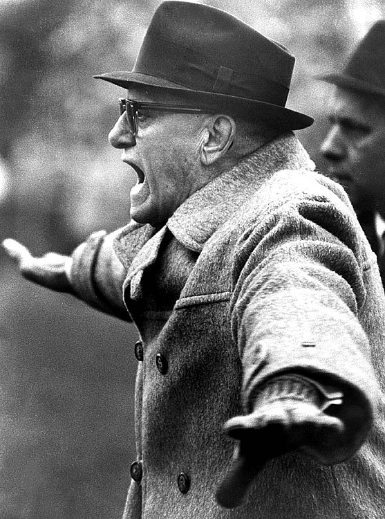Bears' coach George Halas expresses his thoughts during the 1967 season.