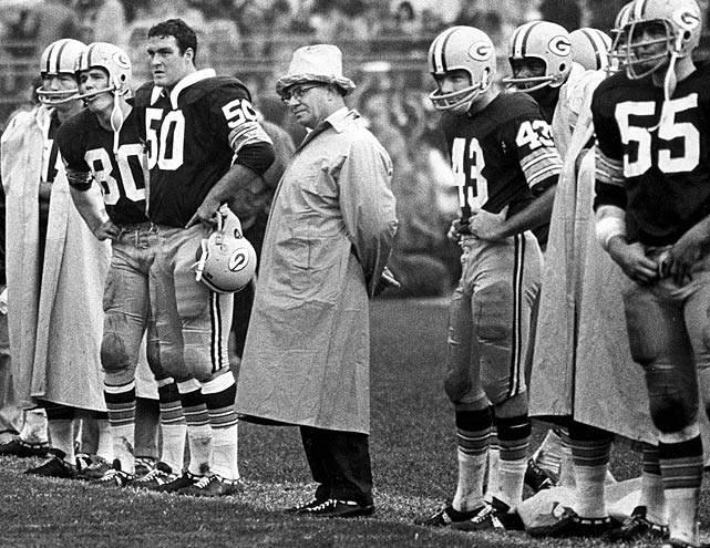 Lombardi dons a tinfoil had during the Packer's midseason matchup with the Minnesota Vikings.