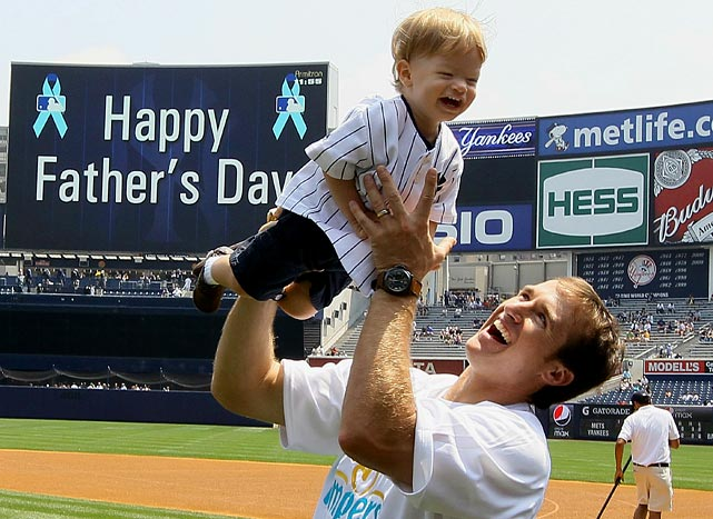 Drew and Baylen visited Yankee Stadium on Father's Day to take in a game against the cross-town rival Mets.