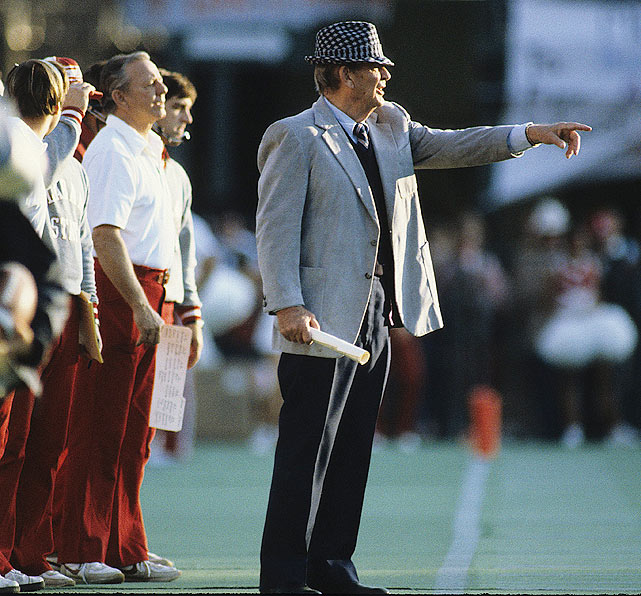 "Trailing Auburn 17-14, Alabama mounted a comeback with two fourth-quarter touchdowns to defeat the Tigers 28-17.  Perhaps they were inspired by their coach, Paul ""Bear"" Bryant, who made history that day with his then-NCAA record 315th career victory."
