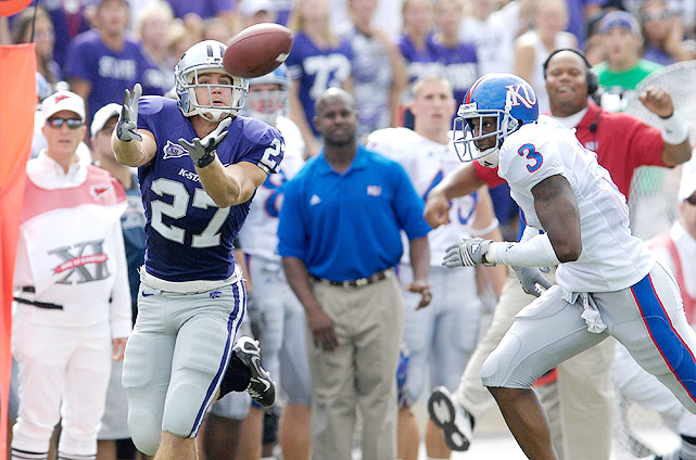 The Manhattan, Kan., native walked on at Kansas State and drew national attention during his sophomore campaign when he caught 45 passes and eight touchdowns. Injuries largely derailed Nelson's junior season, but he showed his stats weren't a fluke when he caught 122 passes for 1,606 yards and 11 touchdowns during his senior season with the Wildcats.