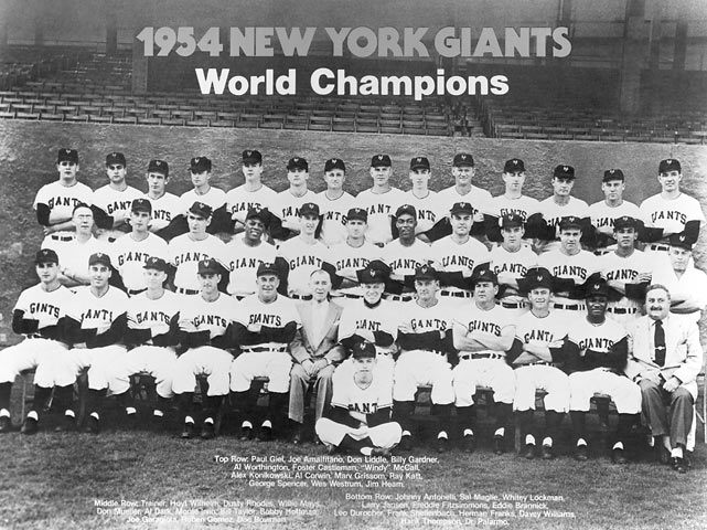 As the San Francisco Giants celebrate their World Series title, SI.com looks back to 1954, the last time the Giants were champions. At the time, the franchise was located in New York and played its home games at the Polo Grounds. Here is a look at the squad.