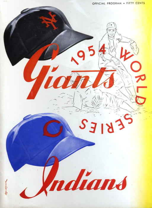 The Giants faced the Indians in the World Series. Cleveland, which posted the best American League record of all time (111-43), was heavily favored.