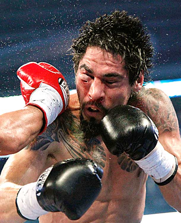 Antonio Margarito of Mexico gets hit with a right from Manny Pacquiao of the Philippines during their 12-round WBC World Super Welterweight title fight Nov. 13 in Arlington, Texas. Pacquaio won by unanimous decision.