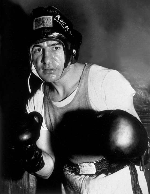 One of the most popular fighters of all time, Graziano overcame a troubled youth on New York's Lower East Side to become middleweight champion with a sixth-round stoppage of Tony Zale in the second of their three meetings. His life story was the basis of the 1956 film  Somebody Up There Likes Me .