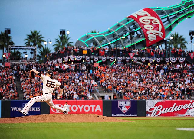 In the highly-anticipated Game 1 showdown between Tim Lincecum and Cliff Lee, the San Francisco righty Lincecum earned the win.  He was shaky -- allowing four earned runs in 5.2 innings.