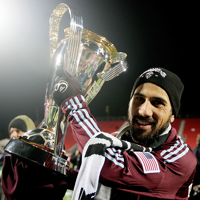 Rapids captain Pablo Mastroeni lifted his first MLS Cup trophy. Mastroeni, who entered the league in 1998 with the now-defunct Miami Fusion, is one of the all-time MLS games played leaders and a two-time World Cup player for the U.S.