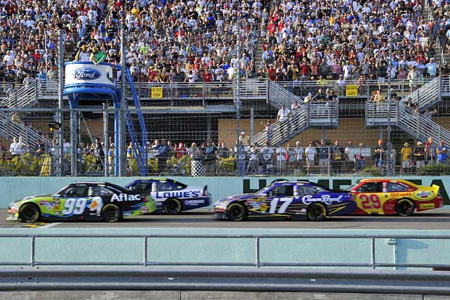 Fans flocked to Homestead-Miami Speedway to watch the final race of this year's Chase for the Championship. Those who made the trek were treated to Carl Edwards' second win of the year and saw Jimmie Johnson capture his fifth-straight Cup title.