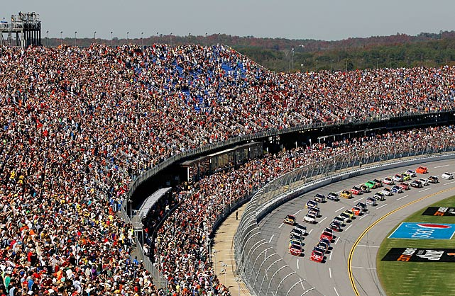 More than 100,000 fans headed to Talladega Halloween afternoon to watch the seventh race of the Chase for the Championship.