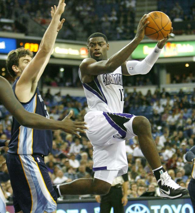 Tyreke Evans isn't a traditional point guard, and Sacramento has begun experimenting with having him play as a small forward. But in his first season, Evans won Rookie of the Year after joining Oscar Robertson, Michael Jordan and LeBron James as the only rookies to average at least 20 points, five rebounds and five assists. His jump shot remains a question mark, but Evans is explosive as a driver and finisher.