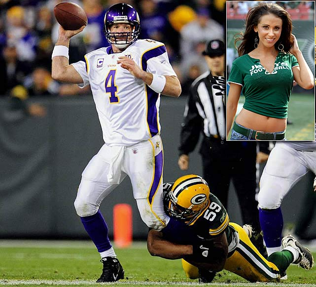 Brett Favre's return to the Vikings hasn't been as storybook as last season. Playing without favorite target Sidney Rice, Minnesota lost its first two games, then a report surfaced that Favre may have acted inappropriately with Jets employee Jen Sterger while both were with the team in 2008. Making matters worse, Favre suffered fractures in his surgically repaired ankle in a loss at Green Bay and had to leave the following week's game against the Patriots to receive stiches after being hit by lineman Myron Pryor. Amid all that, Randy Moss joined and left the Vikings, who reached Week 9 with a 3-5 record.