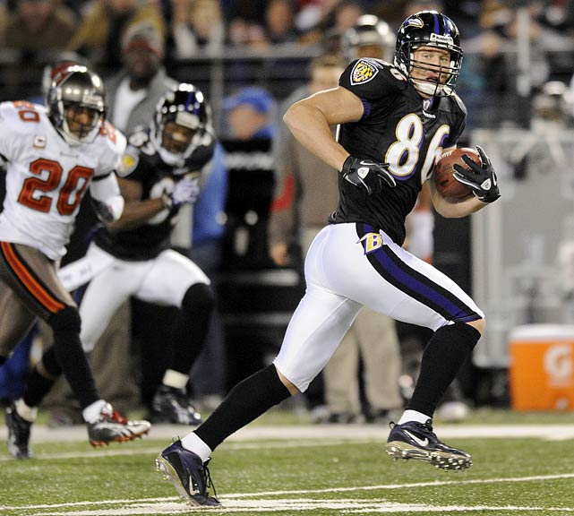 Todd Heap was supposed to be washed-up. The tight end hasn't been completely healthy in years, and the Ravens drafted two tight ends, presumably to transition away from the 10th year veteran.  But as Heap's 65-yard seam route showed on Sunday, Heap still has a few years left in him, and the Ravens are wise to ride him while they still can.