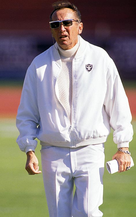 Nobody embodies the spirit of the Raiders more than their feisty owner, Al Davis. He joined the team in 1963 and in the nearly 50 years since, Davis has served as the team's coach, general manager and principal owner. He was inducted into the Pro Football Hall of Fame in 1992.