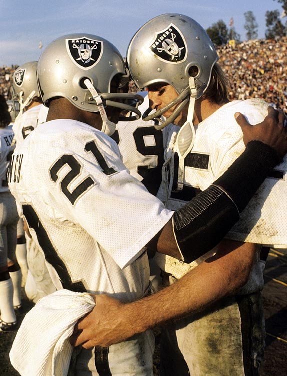 Cliff Branch and Fred Biletnikoff were two of the top receivers in Raiders history. Branch spent 14 seasons in the black and silver, winning three Super Bowls (XI, XV, XVIII) and making four Pro Bowl teams (1974-77). Biletnikoff spent 19 seasons in Oakland, earning a spot of six Pro Bowl teams (1967, 1969-71, 1973, 1974) and winning one Super Bowl  MVP award (XI). He then spent 18 seasons on the Raiders' coaching staff, beginning in 1989.