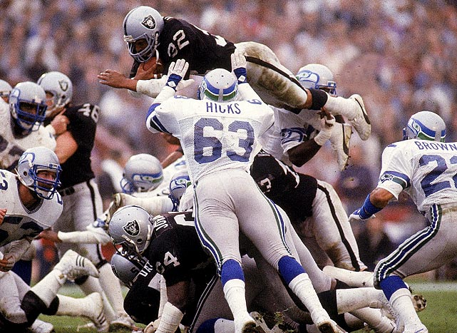 Most consider Marcus Allen to be the greatest running back in Raiders history and his numbers -- 8,545 yards and 97 touchdowns in 11 seasons - help solidify that argument. He was also named MVP of Super Bowl XVIII after running for 191 yards and two touchdowns.