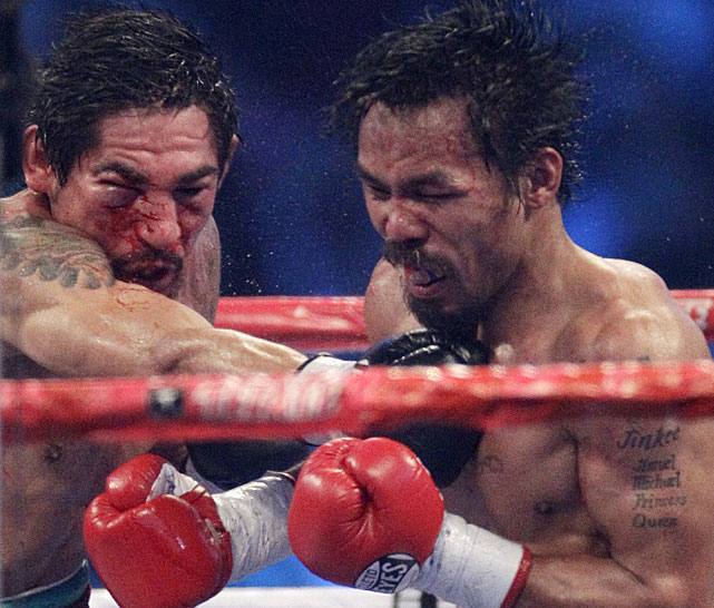 "Said Pacquiao of Margarito's punching power: ""I never expected him to be as strong as he was."""