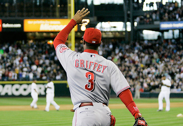 "In June 2007, Griffey returned to ""The House that Griffey Built"" for the first time since being traded to the Cincinnati Reds in February 2000. When traded, Griffey remarked that he was finally home in Cincinnati. But as the sellout crowd of 46,340 -- who cheered for Griffey for two minutes and 54 seconds --- and a lengthy Mariners video tribute showed, Griffey might have been home all along in Seattle. On that June night, it certainly felt like it."