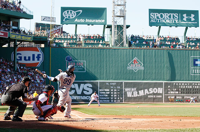 "Shipped to Los Angeles when ""Manny being Manny"" grew tiresome, Ramirez returned to Fenway Park for the first time in June 2010. Spared the honor of playing defense in front of the Green Monster, Ramirez went 1-for-5 as a designated hitter. His only hit, a sixth-inning single, triggered boos throughout the stadium."