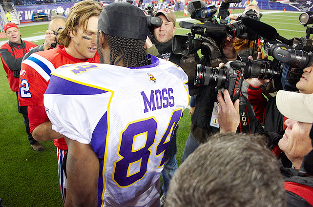 Traded Oct. 6 from the New England Patriots to the Minnesota Vikings, Moss didn't have to wait long to exact his revenge. The two played on Oct. 31, and the game itself was relatively uneventful for Moss, as he was held to only one catch for eight yards. He saved his impact for the postgame press conference however, launching into a diatribe for the ages at the podium. Moss was waived by Minnesota and picked up by the Tennessee Titans a week later.