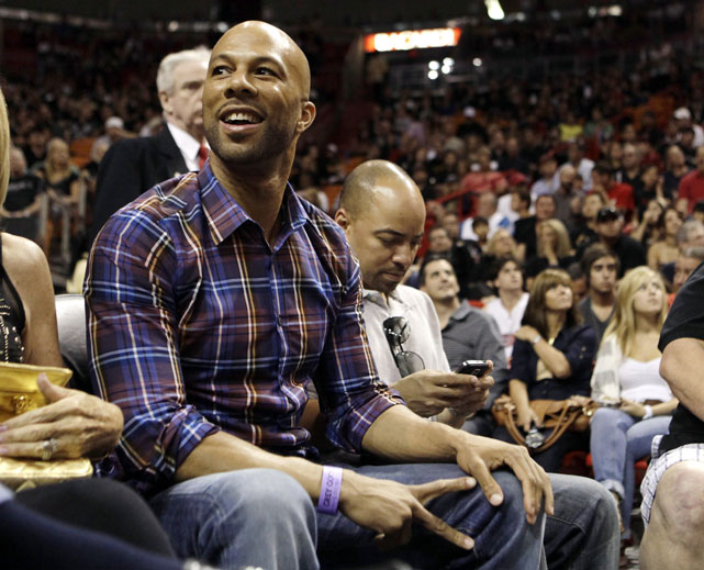 Common can often be spotted at Miami Heat games, but his roots go back to Chicago. He landed a job with the Bulls while he was a teenager living in the Windy City.