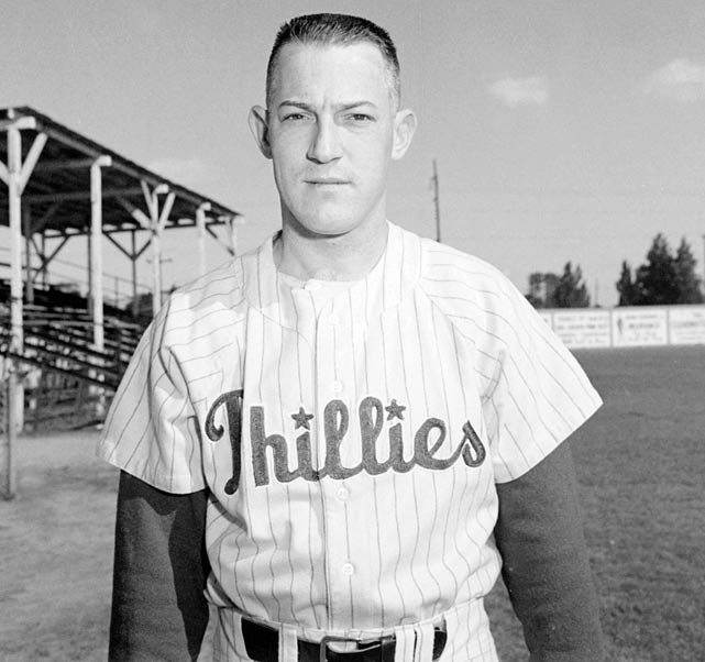 "George ""Sparky"" Anderson  died Thursday at the age of 76 . In this photo, the Hall of Famer poses in a Philadelphia Phillies uniform.  Anderson only spent one year in the major leagues, paying second base and batting .218 with no home runs and 34 RBIs."