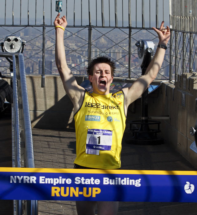 Perhaps no footrace is more unique than the annual Empire State Building Run-up, held since 1978, in which the participants complete the 1,576-step run from the lobby to the observatory deck of New York City's largest building.