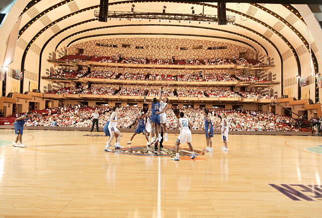 Due to the 2004 Republican National Convention, the New York Liberty were kicked out of their home at Madison Square Garden and forced to play at Radio City Music Hall on July 24, 2004. The venue was unique in that it only allowed fans to view the action from one side of the court.