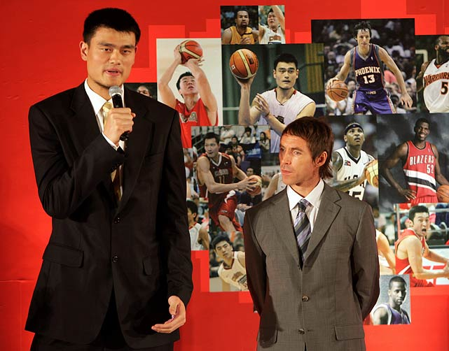 Never the tallest player in the NBA, the 6-foot-3 Nash looked shorter than ever when stationed next to the 7-foot-5 Yao Ming.  Luckily, he's usually asked to guard Aaron Brooks and not the Chinese standout when Phoenix takes on Western Conference foe Houston.