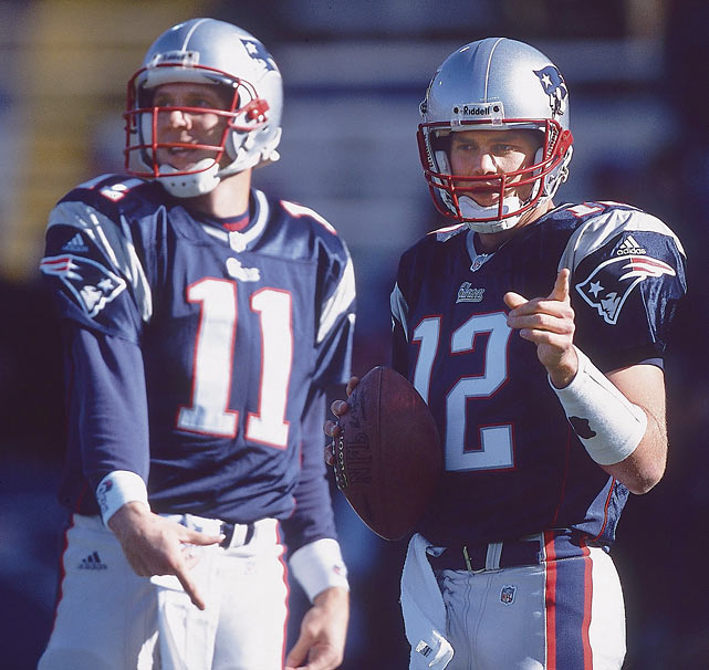 Brady threw one pass his rookie season and spent most of the year watching starter Drew Bledsoe oversee a 5-11 record. In 2001, Brady got his chance in the team's second game, when a hit by Jets linebacker Mo Lewis caused Bledsoe to shear a blood vessel in his chest.