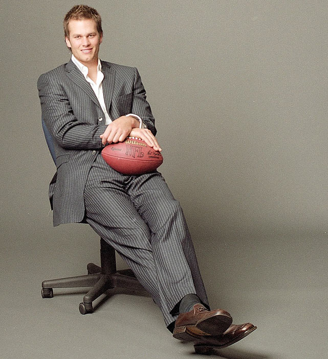Brady was soon a superstar off the field and appeared in various commercials and photo shoots.