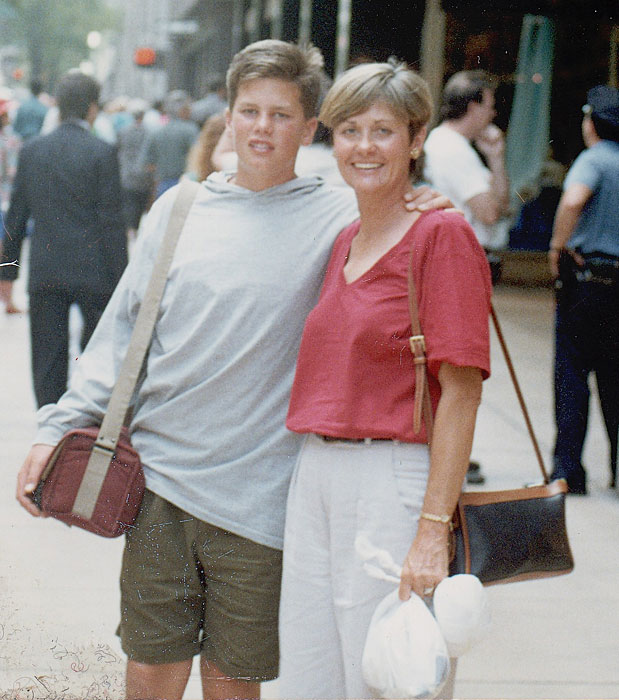 Brady, age 13, poses with his mother Galynn.