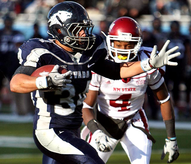 We're in for quite a showdown between Boise State and Nevada on Friday. The Wolf Pack handled New Mexico State with ease, winning their 11th straight home game and the program's 500th overall. Vai Taua ran for 111 yards and two scores and caught a 79-yard touchdown pass and the Nevada defense delivered six sacks and two interceptions.
