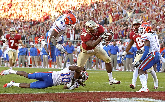 Florida State spent six straight years losing to Florida. The Seminoles only needed one half to end that streak, posting 21 second-quarter points to build a 24-7 halftime lead. Florida (7-5, 4-4 SEC) finished its worst regular season under Urban Meyer, while FSU (9-3, 6-2 ACC) secured the ACC Atlantic Division title thanks to its win and NC State's loss.