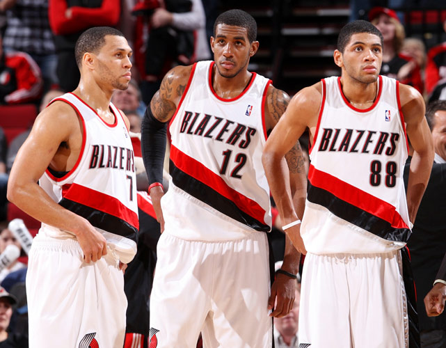 The Blazers wish Greg Oden was a part of this picture. But the big man has played in just 82 games over his first three seasons. With Oden a question mark, the Blazers are focusing on Roy, Aldridge and Batum -- a young, athletic (and, most important, healthy) nucleus to build around.