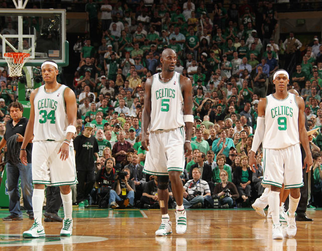 With apologies to Ray Allen, Rajon Rondo has not only replaced the sharpshooter as a member of Boston's trio but has also emerged as the team's best player. The core of Garnett, Pierce and Allen led the Celtics to a championship and their revamped trio could lead Boston to another.