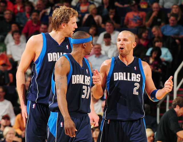 The Mavericks own one of the deepest benches in the league, but in crunch time they turn to their core of Nowitzki, Terry and Kidd. Since trading for Kidd, the Mavs have won 50-plus games each of the last three years, but have also failed to advance to the Western Conference finals.