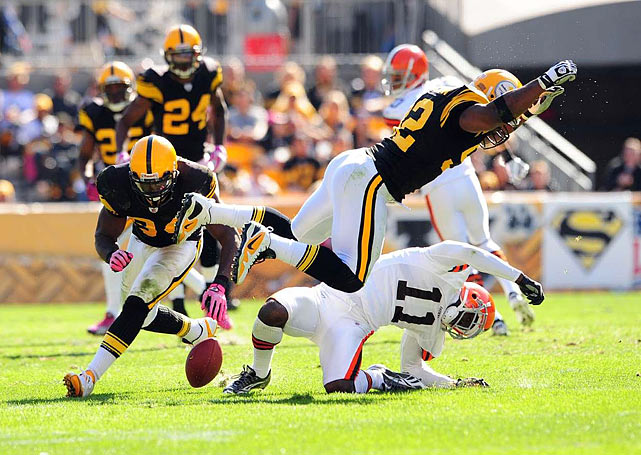 "After concussing Browns wideouts Joshua Cribbs and Mohammed Massaquoi during a savage October weekend that prompted the NFL to levy fines and tighten enforcement of helmet hits, the Steelers linebacker threatened to retire. ""I'm going to sit down and have a serious conversation with my coach (Mike Tomlin) tomorrow and see if I can actually play by NFL rules and still be effective,"" Harrison, who was slapped with three fines totaling $100,000 for hits deemed dangerous, told a Fox Sports Radio show. ""If not, I may have to give up playing football."" He's still playing."