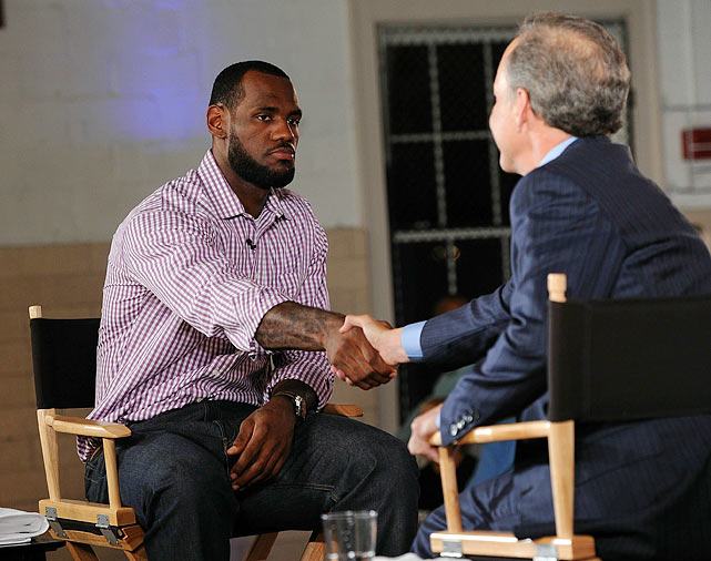 "Poor Cleveland. It was bad enough that the capital of sports futility was forsaken by its biggest star, but King James chose to announce he was leaving during a crass prime time TV special on ESPN entitled ""The Decision"" in which he chose to sign with the Miami Heat, thereby inspiring his former fans to burn his jersey in the streets."