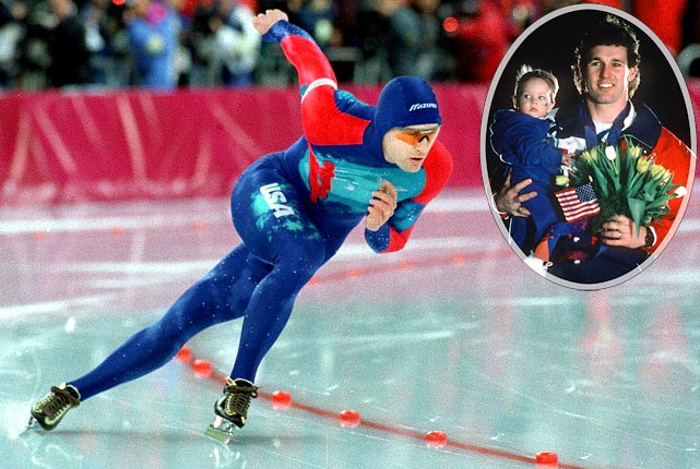 After years of heartbreak, in 1994 Dan Jansen finally won his much-coveted gold medal. Considered the best speed skater in the world, Jansen was thought by many to be cursed after the misfortune that befell him before he won his medal. In 1988 Jansen's sister died of leukemia the day of his races, and unable to focus, Jansen fell in both. In 1992 Jansen again fell, dashing his medal hopes once more. Finally in 1994, after falling in an earlier race, Jansen blew away the field to win the gold medal and prove that hope should never be abandoned. He skated a victory lap with his daughter, Jane, named for his late sister.