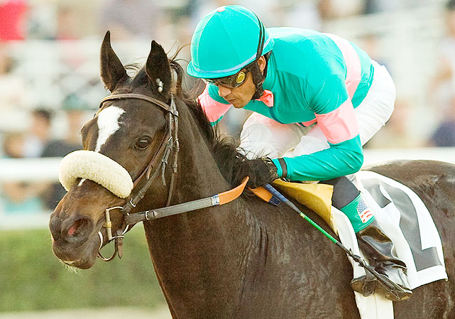 In early 2008, in her first stakes race, Zenyatta set the El Encino Stakes record, finishing the 1 1/16 miles track in a time of 1:40.61. Racing against four-year-old fillies, Zenyatta only beat her counterparts by 3/4 of a length.