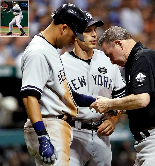 Really, for a former SI Sportsman of the Year, Derek Jeter should have known better. He feigned being hit by a pitch by Tampa Bay reliever Chad Qualls on Sept. 16, conning gullible home plate umpire Lance Barksdale into awarding him first base with some serious scenery-chewing. Gamesmanship, shamesmanship. The Yankees' captain should leave the theatrics to Minka Kelly.