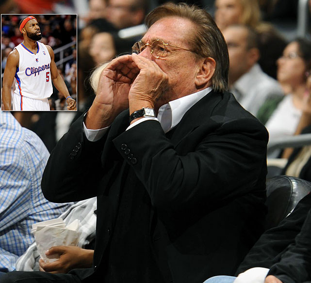 """Sure, we understand heckling. Part of the game. But since when does an owner actually heckle his own players? Yes, we know it's Los Angeles Clippers owner Donald Sterling, but still. Sterling engaged in a verbal barrage aimed mostly at Clippers guard Baron Davis, reportedly saying, """"Why are you in the game?"""" and """"Why did you take that shot?"""" and """"You're out of shape."""""""