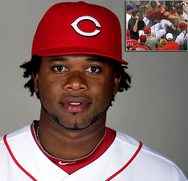 Juan Marichal used to have the highest leg kick in baseball, but now top step on the podium belongs to Cincinnati pitcher Johnny Cueto, who went on a kicking rampage that punctuated a brawl between St. Louis and the Reds on Aug. 10. Cueto left Cardinals catcher Jason LaRue with a concussion. MLB suspended Cueto for a mere seven games; in other words, one start.