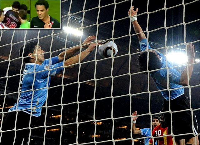 "Not only did Uruguay's Luis Suarez deliberately handle the ball on the goal line to stop a Ghana shot on July 2 -- this effectively prevented the African country from reaching the World Cup semifinal -- but he then boasted about it. ""The hand of God belongs to me,"" he said. ""I made the best save of the tournament."" Ghana should have converted the ensuing penalty kick, but ... well, somebody should have shoved a vuvuzela down the throat of the striker, who in November was suspended for biting a player in a Dutch league game."
