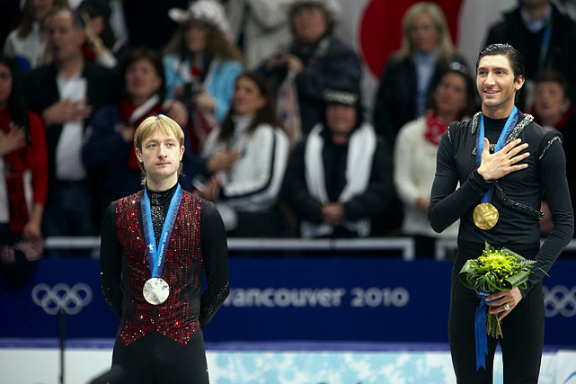 """In Russia, they generally serve vodka, not whine. But in the aftermath of the Olympic men's free skate on Feb. 18, former Olympic gold medalist Evgeni Plushenko was less than complimentary while discussing the winner, Evan Lysacek of the U.S. """"If the Olympic champion doesn't know how to jump a quad, I don't know,"""" Plushenko, the 2010 silver medalist, said through an interpreter. """"Now it's not men's figure skating. Now it's dancing."""""""
